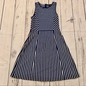 Banana Republic striped midi dress